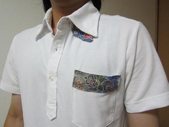 紅型白ポロシャツ(鳳仙花).JPG